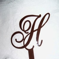 Cakes, brown, cake, Monogrammed Wedding Cakes, Monogram