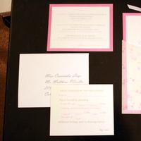 Stationery, white, pink, Invitations