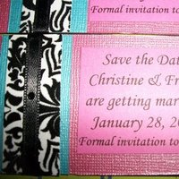DIY, Stationery, pink, blue, black, Invitations, The, Save, Date, Turquoise, Fuschia