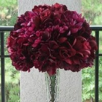 Flowers & Decor, Bridesmaids, Bridesmaids Dresses, Fashion, burgundy, Bride Bouquets, Bridesmaid Bouquets, Flowers, Bouquet, Berry, Flower Wedding Dresses