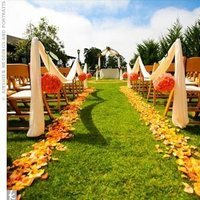 Ceremony, Flowers & Decor, yellow, orange