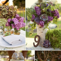 Reception, Flowers & Decor, pink, purple, green, brown, Flowers