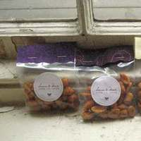 DIY, Reception, Flowers & Decor, Favors & Gifts, purple, Favors, Fabric, Peanuts