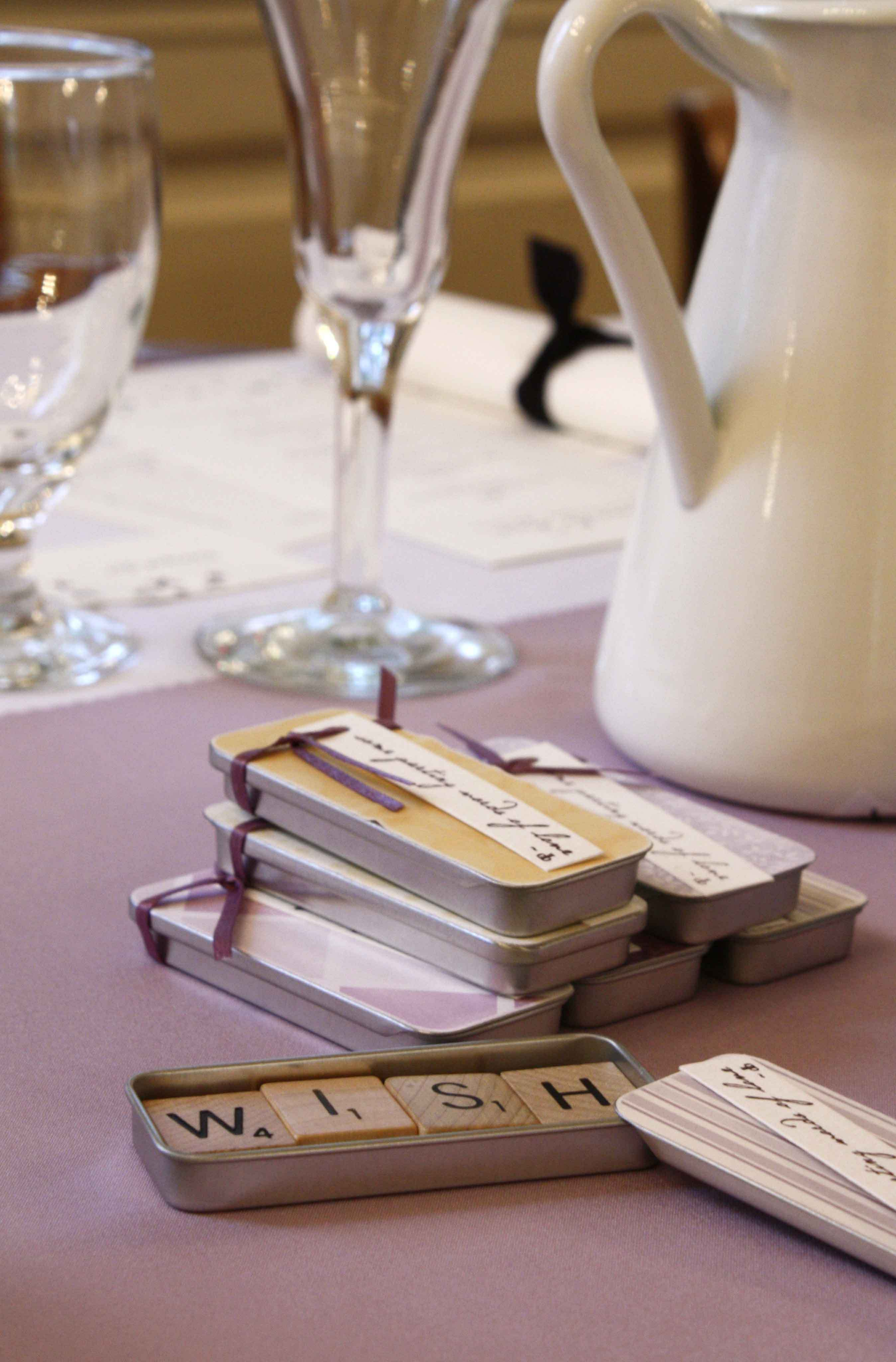 Favors & Gifts, yellow, purple, Favors, Scrabble