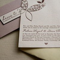 DIY, Stationery, purple, Invitations, Butterfly, Elegant, Letterpress, Whimsical