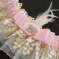 Beauty, pink, Feathers, Garter, Lace, Jewel, Retro, Antique, Embellishment, Feather