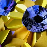 Flowers & Decor, Decor, Paper, yellow, Flowers, Collapsible, Reuse