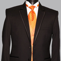 Fashion, orange, black, Men's Formal Wear, Tuxedo