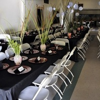 Reception, Flowers & Decor, white, green, black