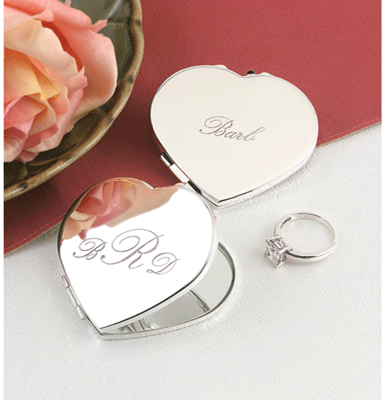 Jewelry, Bridesmaids, Bridesmaids Dresses, Fashion, silver, Mirror, Compact, Engraved