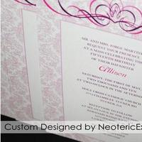 Jewelry, Stationery, white, pink, Tiaras, Invitations, Party, Tiara, Background, Birthday, Damask