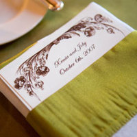 Stationery, green, Invitations, Linens