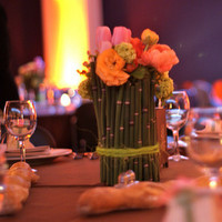 Flowers & Decor, orange, pink, green, gold, Centerpieces, Flowers, Centerpiece, Horsetail