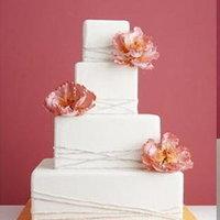 Cakes, orange, pink, gold, cake