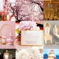 Inspiration, white, pink, gold, Board