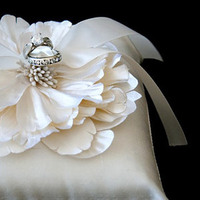 Ceremony, Flowers & Decor, gold, Ring pillow, 5eizen