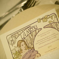Stationery, Invitations, Menu