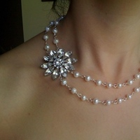 Jewelry, Necklaces, Necklace, With, Side, Pearl, Accent