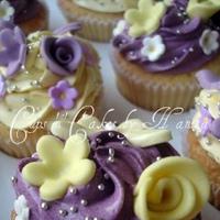 Cakes, yellow, purple, cake