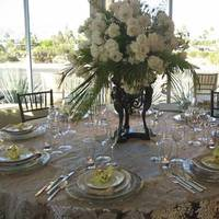 Reception, Flowers & Decor, white, silver, gold, Centerpieces, Flowers, Centerpiece, Table, Linens, Velvet