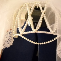 Beauty, Wedding Dresses, Veils, Fashion, white, dress, Veil, Hair, Pearls, Rhinestones, Claytonandshauna