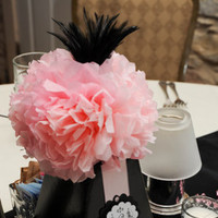DIY, Reception, Flowers & Decor, pink, black