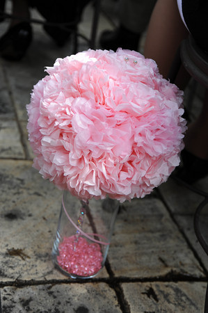 Ceremony, DIY, Reception, Flowers & Decor, pink, Kissing, Balls