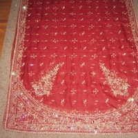 Wedding Dresses, Veils, Fashion, red, gold, dress, Veil, Hindu, Crystal, Indian, Lengha, East
