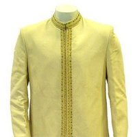 Fashion, gold, Men's Formal Wear, Indian, Suit, East, Achkhan, Sherwani