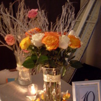 Flowers, Reception, white, yellow, silver, Flowers & Decor
