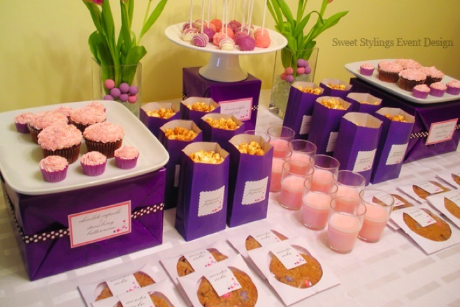 Reception, Flowers & Decor, Cakes, pink, purple, brown, cake, Lavender, Candybar