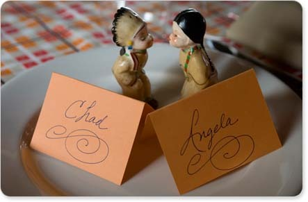 Reception, Flowers & Decor, orange, Place Cards, Table setting, Salt and pepper shakers