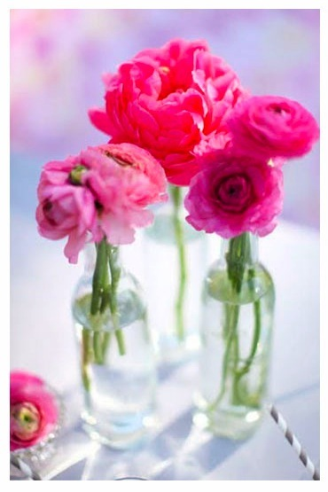 Reception, Flowers & Decor, pink, red, purple, Flowers, Peonies, Jars, Bottle