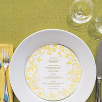 Reception, Flowers & Decor, yellow, Menu, Card