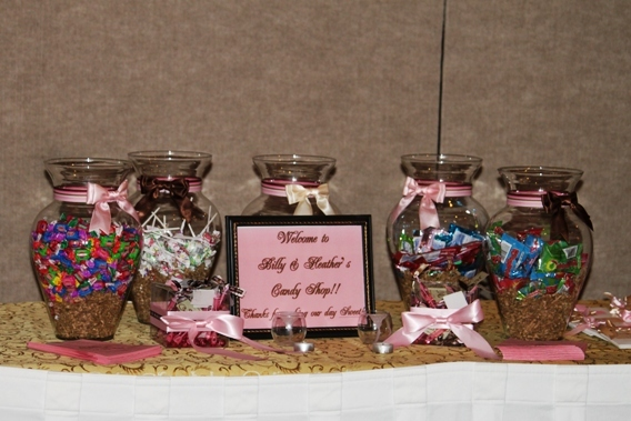 Inspiration, Reception, Flowers & Decor, Favors & Gifts, pink, brown, Favors, Candy, Board, Buffet, For