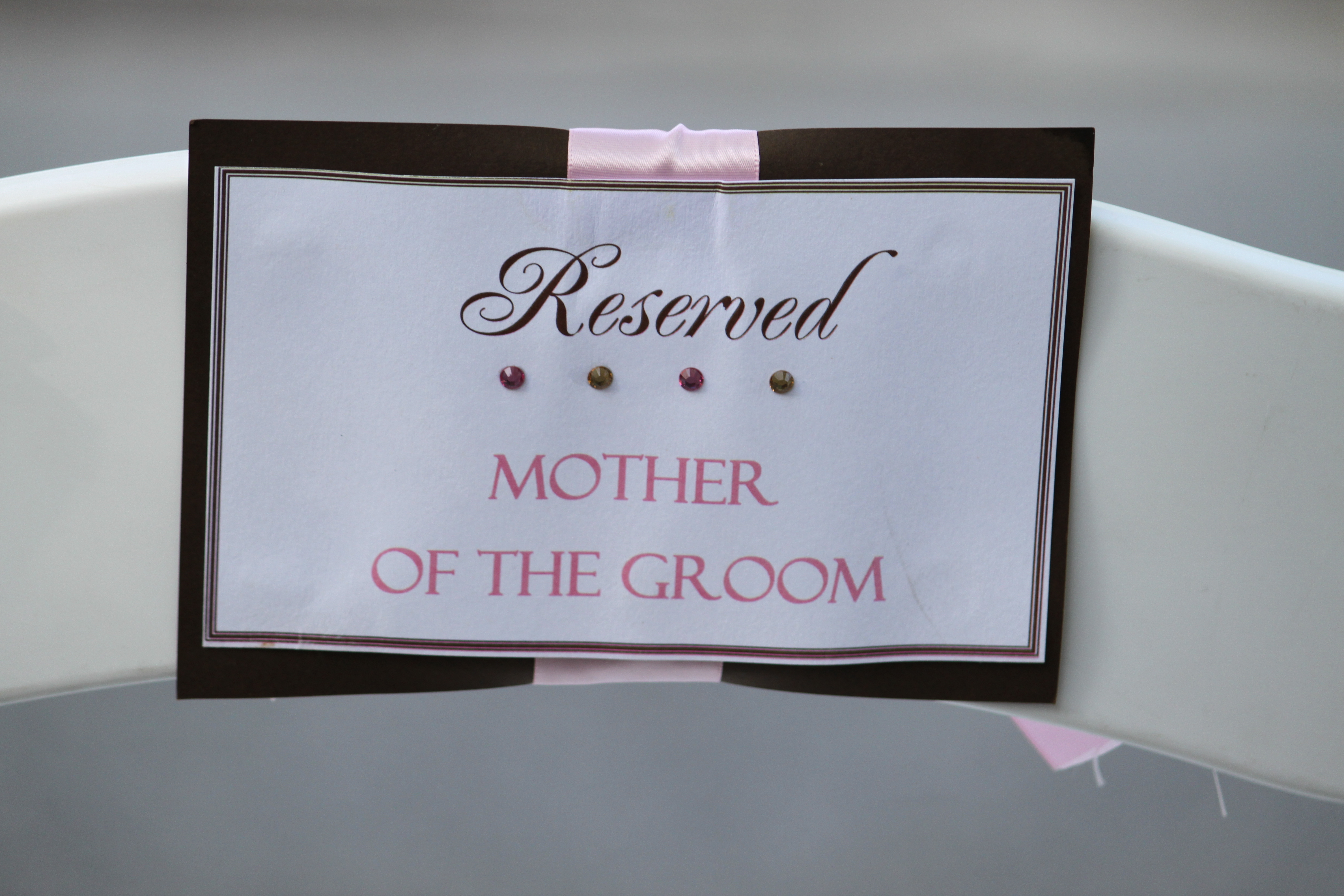 Ceremony, Inspiration, Flowers & Decor, pink, brown, Board, Chair, Tags, Reserved