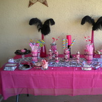 Reception, Flowers & Decor, Cakes, pink, black, cake, Candy, Buffet