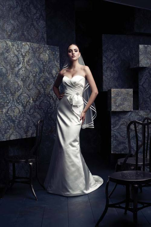Wedding Dresses, Sweetheart Wedding Dresses, Mermaid Wedding Dresses, Fashion, white, dress, Mermaid, Sweetheart, Strapless, Strapless Wedding Dresses, Satin, 4060, Paloma blanca, satin wedding dresses