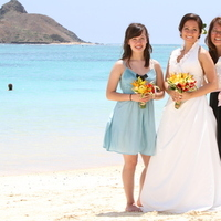 Ceremony, Flowers & Decor, Bridesmaids, Bridesmaids Dresses, Wedding Dresses, Destinations, Fashion, dress, Destination Weddings, Hawaii, Ceremony Flowers, Bridesmaid Bouquets, Flowers, Destination wedding, Flower Wedding Dresses