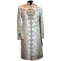 Fashion, white, gold, Men's Formal Wear, Indian, Suit, East, Achkhan, Sherwani
