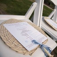 Ceremony, Flowers & Decor, Stationery, blue, Ceremony Programs, Wedding, Program, Fan, Palm, Buri