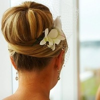 Beauty, Inspiration, Flowers & Decor, white, Updo, Flowers, Hair, Board, Birdcage