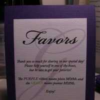 Favors & Gifts, favor, Sign