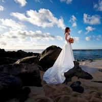 Ceremony, Flowers & Decor, Destinations, Hawaii, Beach, Beach Wedding Flowers & Decor, Oahu