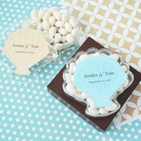 Reception, Flowers & Decor, Favors & Gifts, white, blue, favor, Beach, Beach Wedding Favors & Gifts, Beach Wedding Flowers & Decor, Wedding, Candy, Seashell, Seaside, Boxes