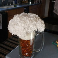 Reception, Flowers & Decor, white, gold, Centerpieces, Beer