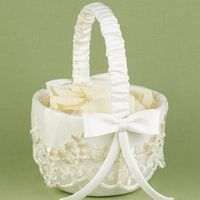 Flowers & Decor, ivory, Flower, Girl, Basket