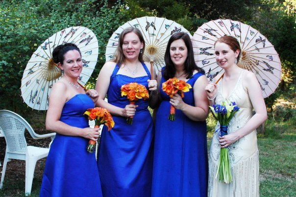 Bridesmaids, Bridesmaids Dresses, Fashion, orange, blue, silver