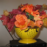 Flowers & Decor, yellow, orange, red, brown, gold, Flowers