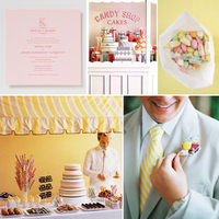 Inspiration, yellow, orange, pink, Board